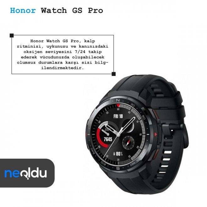 Honor Watch GS Pro sağlık uygulamaları