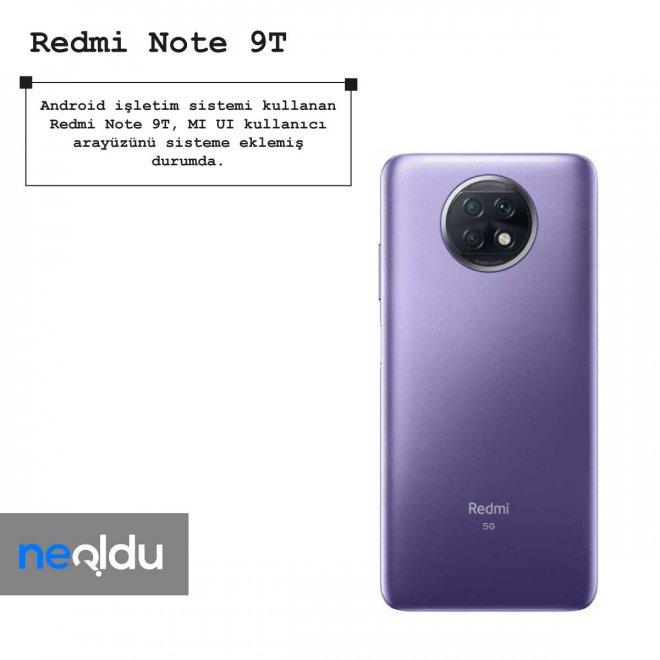 Redmi Note 9T işletim sistemi