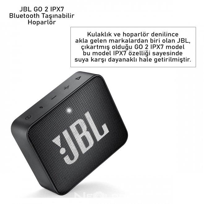 JBL GO 2 IPX7 Bluetooth Taşınabilir Hoparlör
