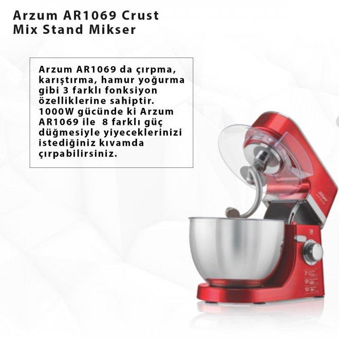 Arzum AR1069 Crust Mix Stand Mikser