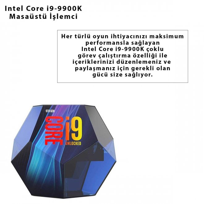 Intel Core i9-9900K Masaüstü İşlemci