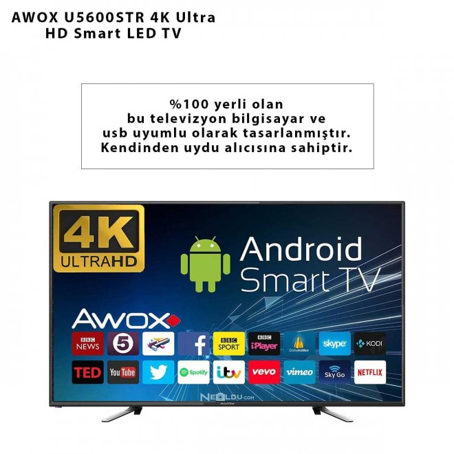 AWOX U5600STR 4K Ultra HD Smart LED TV