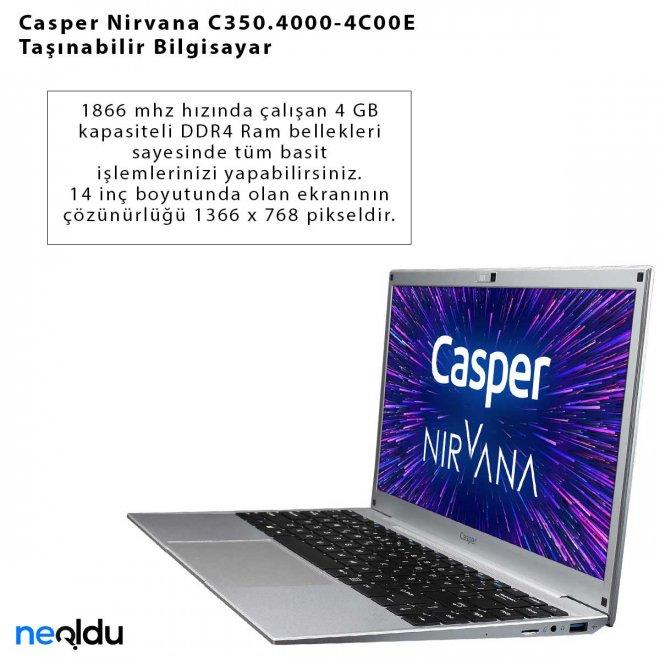 Casper Nirvana C350.4000-4C00E Taşınabilir Bilgisayar