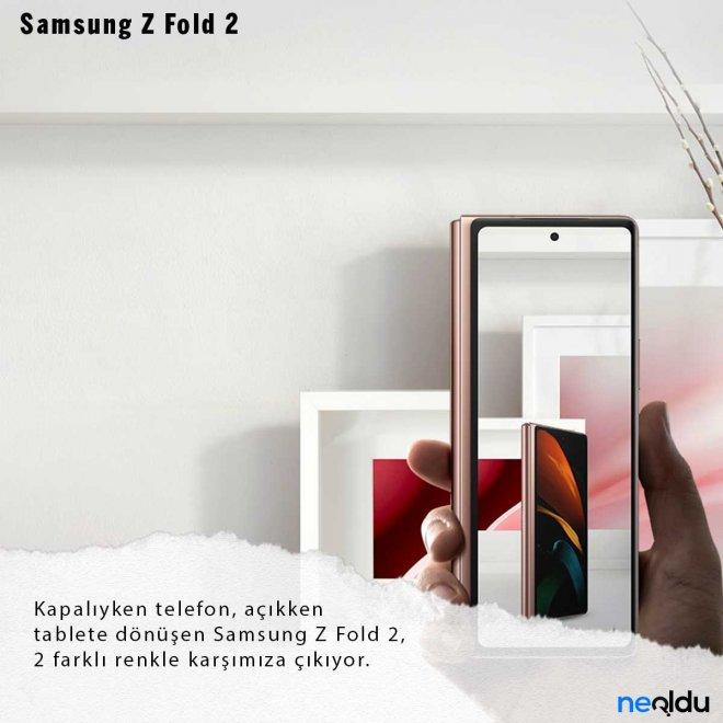 Samsung Galaxy Z Fold 2 Renkler