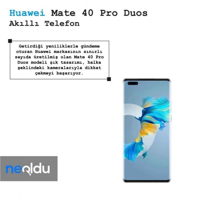 Huawei Mate 40 Pro Duos Halka Kamera