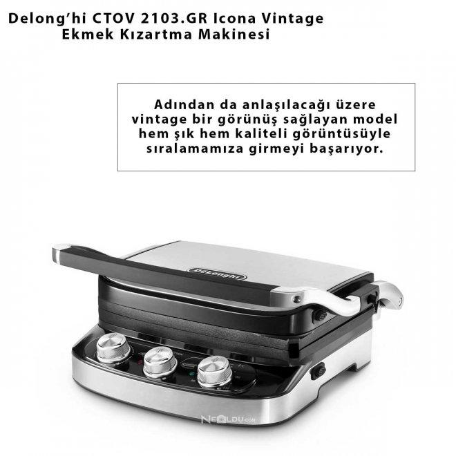 Delong'hi CTOV 2103.GR Icona Vintage Ekmek Kızartma Makinesi