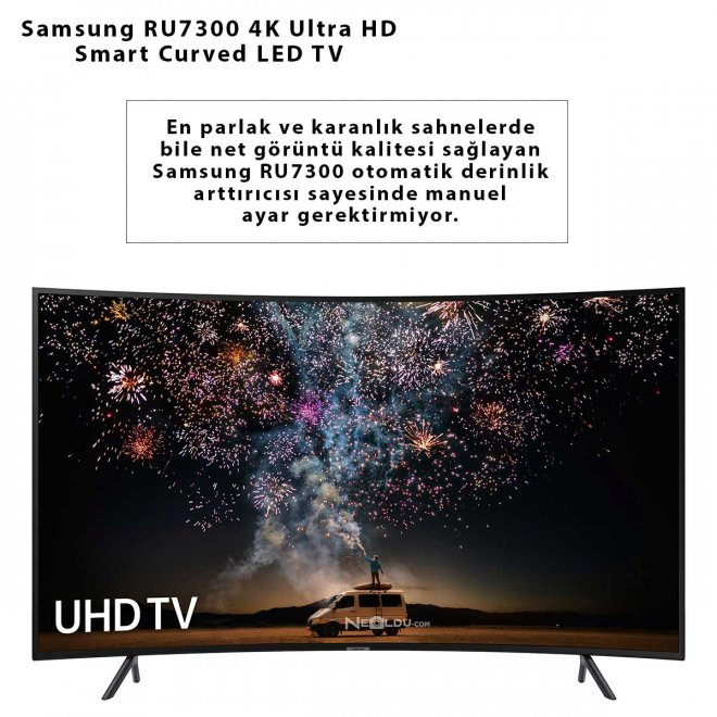 Samsung RU7300 4K Ultra HD Smart Curved LED TV