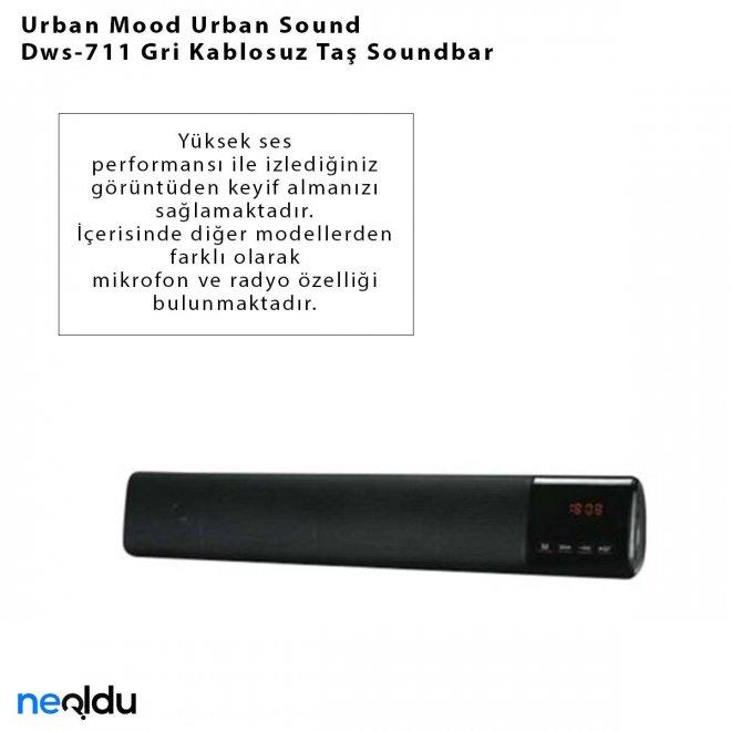 Urban Mood Urban Sound Dws-711 Gri Kablosuz Taş Soundbar