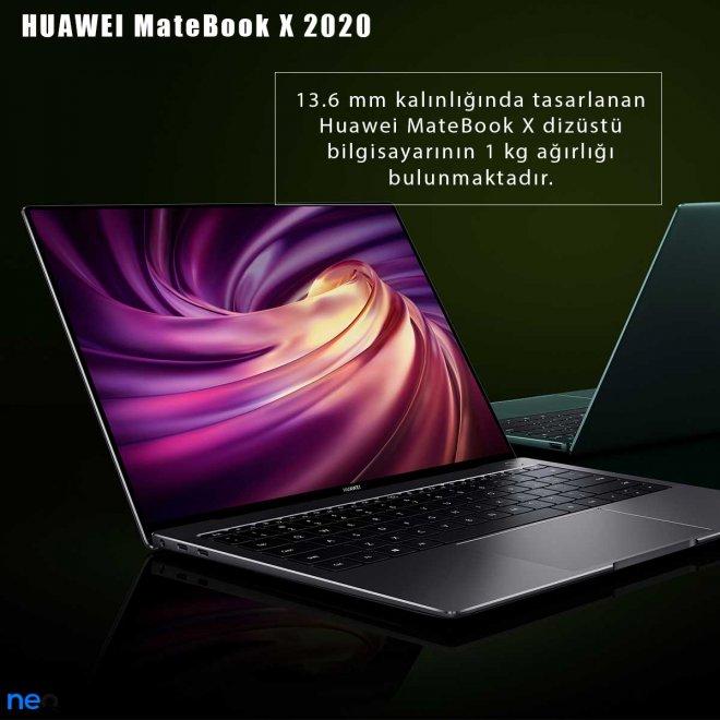 Huawei MateBook X 2020 ağırlığı