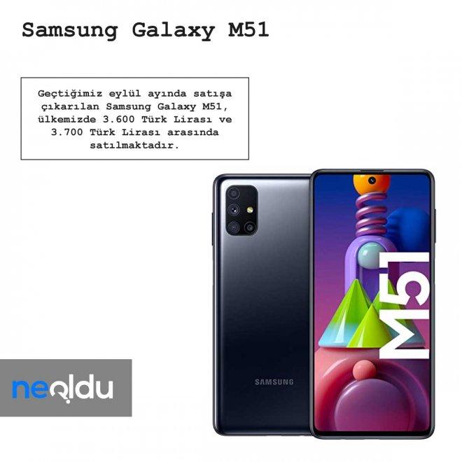 Samsung Galaxy M51 Fiyatı