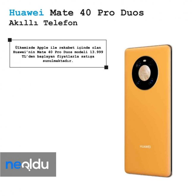 Huawei Mate 40 Pro Duos Fiyat