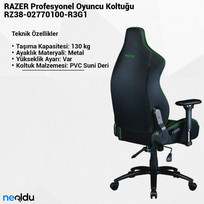 RAZERRZ38-02770100-R3G1Profesyonel Oyuncu Koltuğu