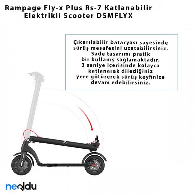 Rampage Fly-x Plus Rs-7 Katlanabilir Elektrikli Scooter DSMFLYX
