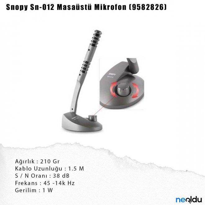 Snopy Sn-012 Masaüstü Mikrofon (9582826)