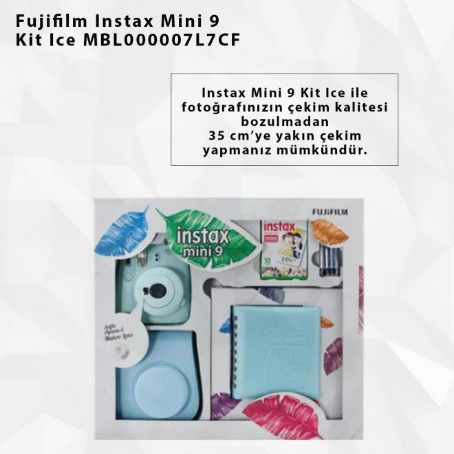 Fujifilm Instax Mini 9 Kit Ice MBL000007L7CF