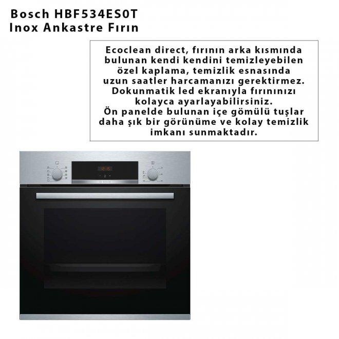 Bosch HBF534ES0T Inox Ankastre Fırın