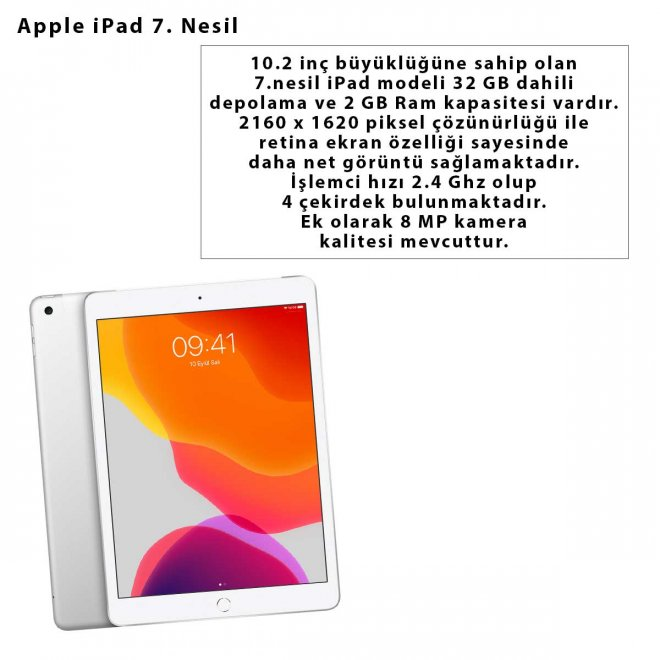 Apple iPad 7. Nesil