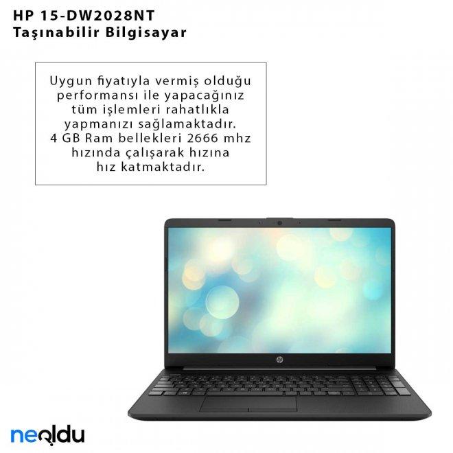 HP 15-DW2028NT Taşınabilir Bilgisayar