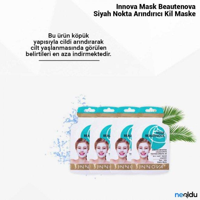 Innova Mask Beautenova Siyah Nokta Arındırıcı Kil Maske