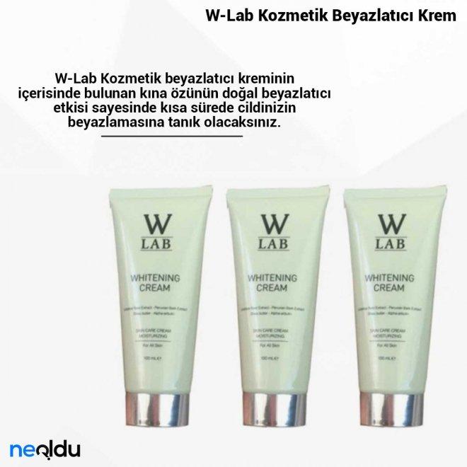 W-Lab Kozmetik Beyazlatıcı Krem