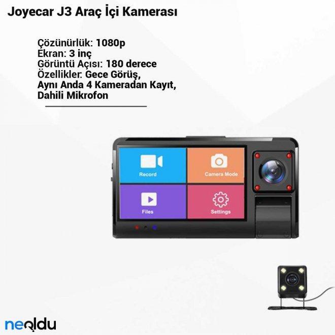 Joyecar J3 Araç İçi Kamerası