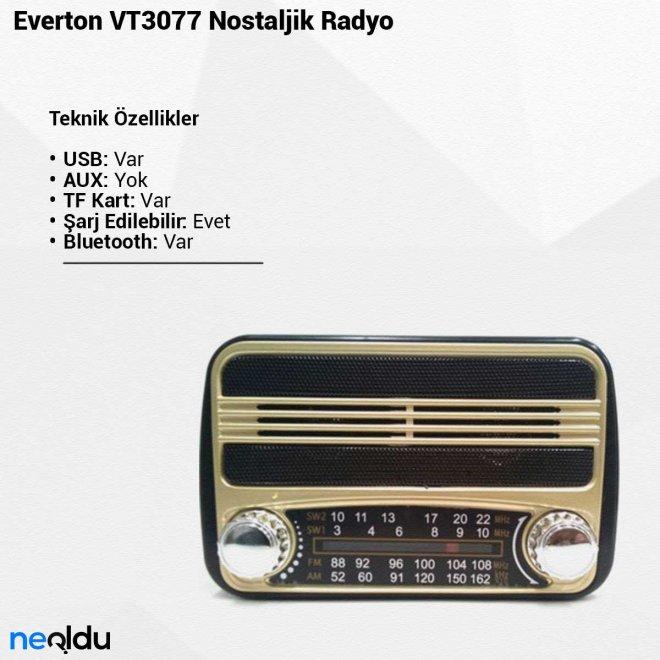Everton VT3077Nostaljik Radyo