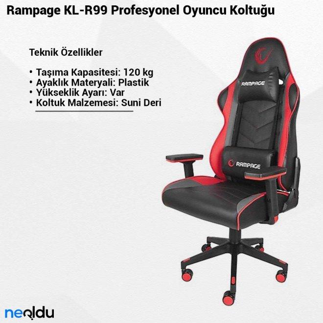 Rampage KL-R99Profesyonel Oyuncu Koltuğu