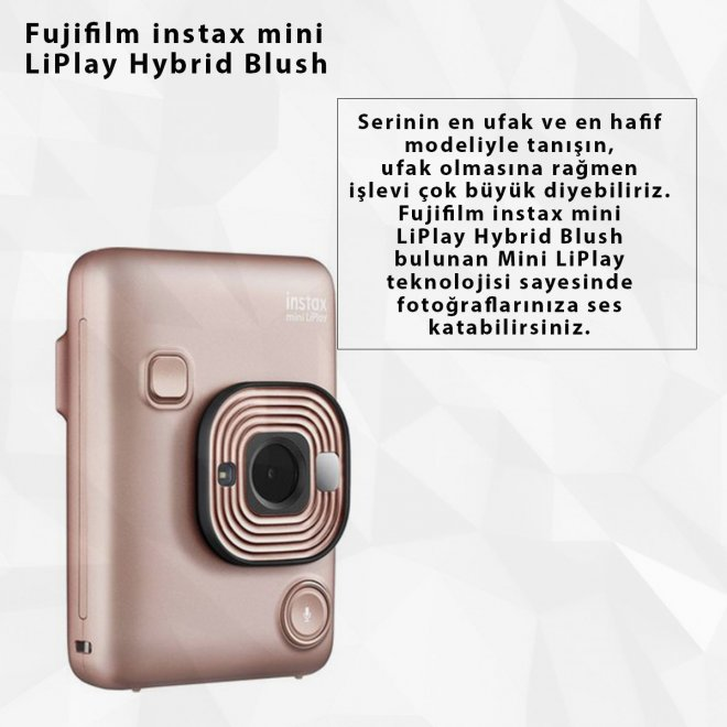 Fujifilm instax mini LiPlay Hybrid Blush