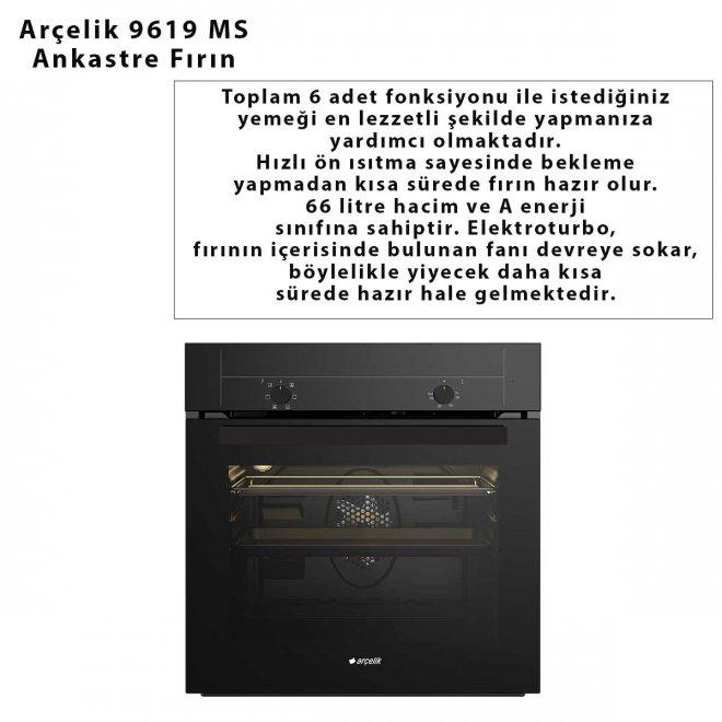 Arçelik 9619 MS Ankastre Fırın