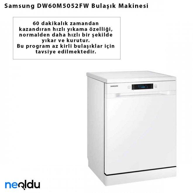 Samsung DW60M5052FW Bulaşık Makinesi