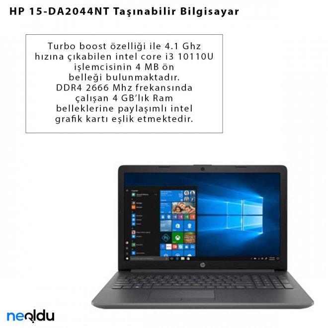 HP 15-DA2044NT Taşınabilir Bilgisayar