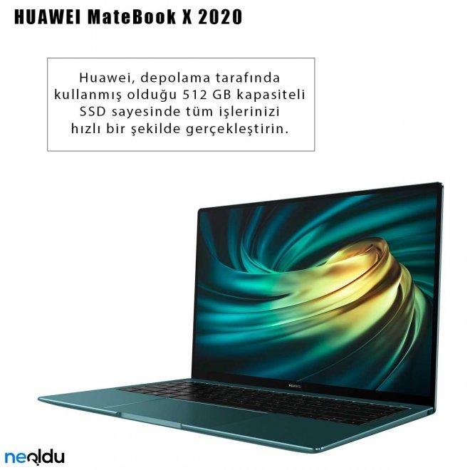 Huawei MateBook X 2020 depolama