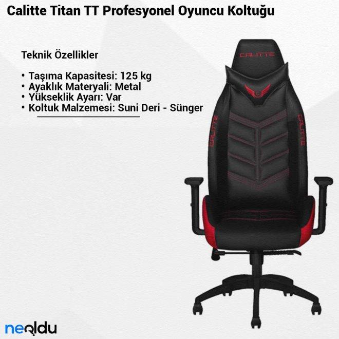 Calitte Titan TTProfesyonel Oyuncu Koltuğu