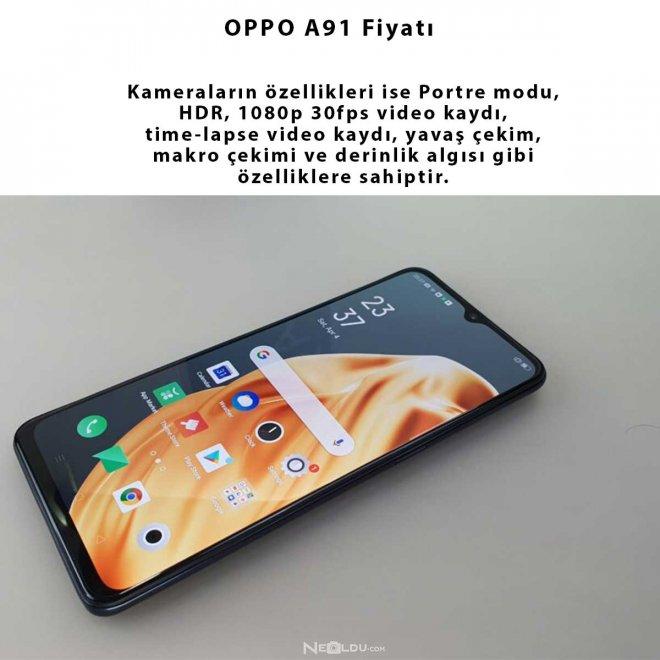 OPPO A91 Kamera Özellikleri