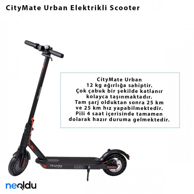 CityMate Urban Elektrikli Scooter