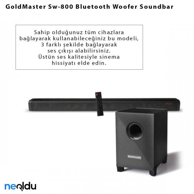 GoldMaster Sw-800 Bluetooth Woofer Soundbar