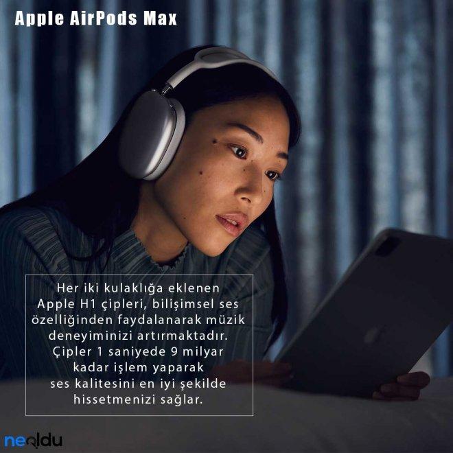 Apple AirPods Max h1 çip