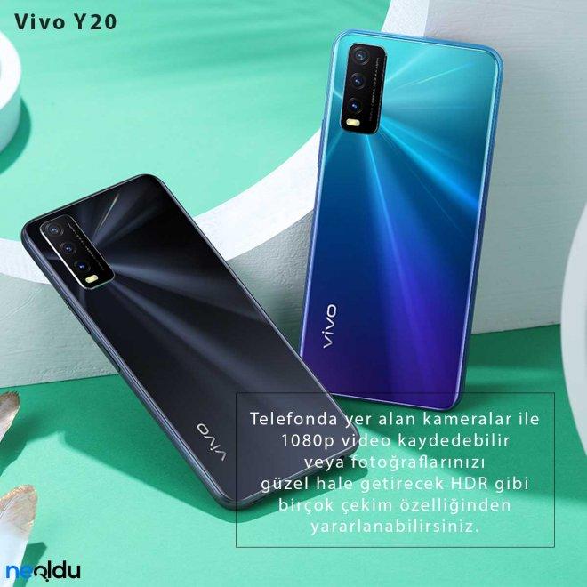 Vivo Y20 kamera özellikleri
