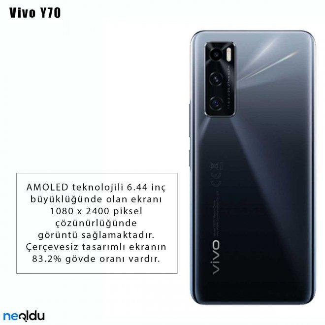 Vivo Y70 ekran özellikleri