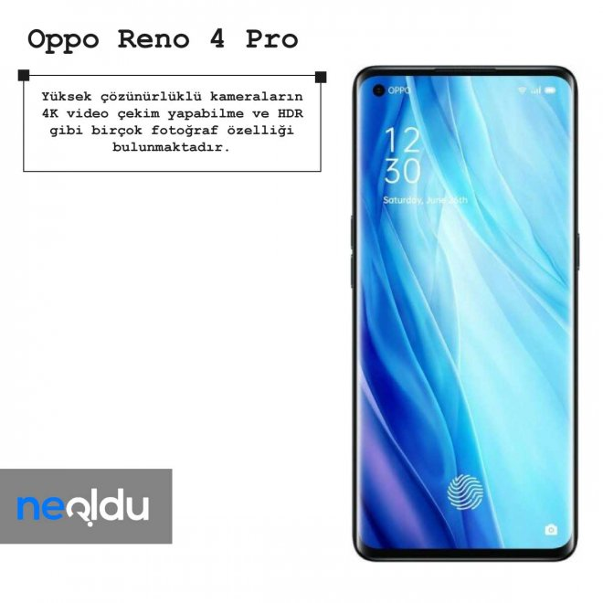 Oppo Reno 4 Pro kamera özellikleri