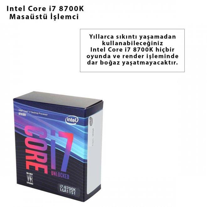 Intel Core i7 8700K Masaüstü İşlemci