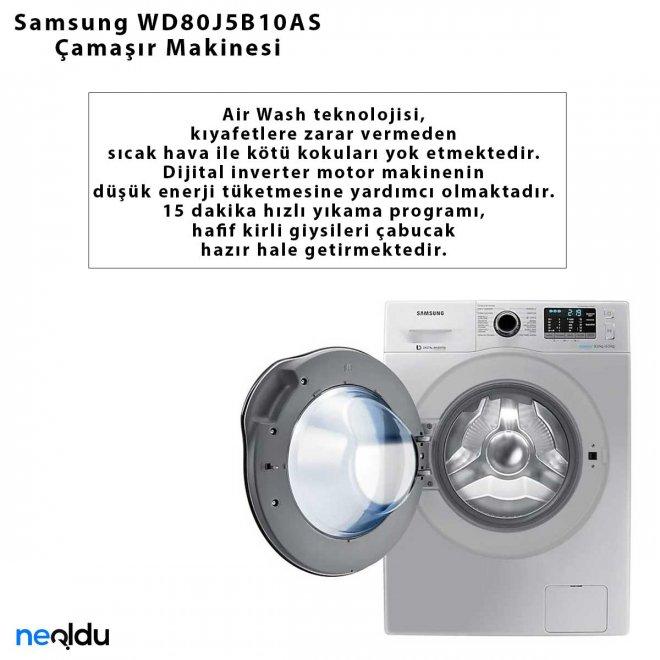 Samsung WD80J5B10AS Çamaşır Makinesi