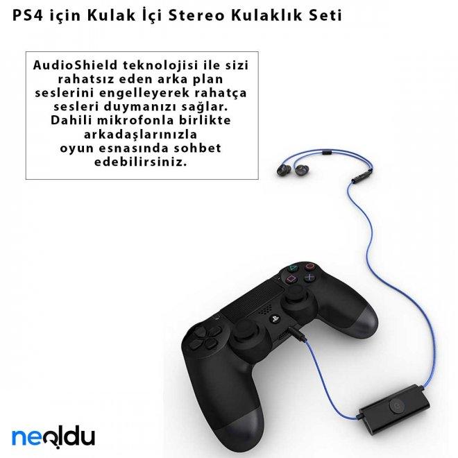 PS4 için Kulak İçi Stereo Kulaklık Seti