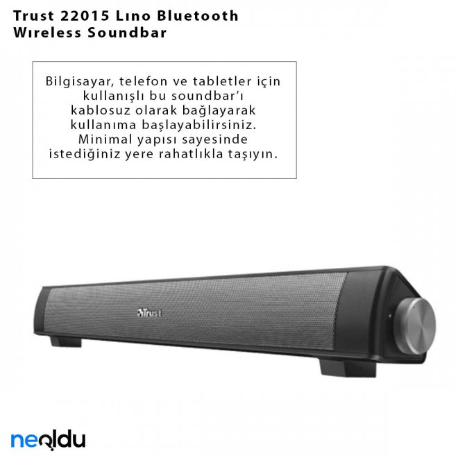 Trust 22015 Lıno Bluetooth Wıreless Soundbar