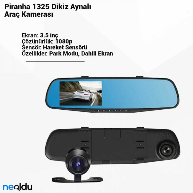 Piranha 1325 Dikiz AynalıAraç Kamerası