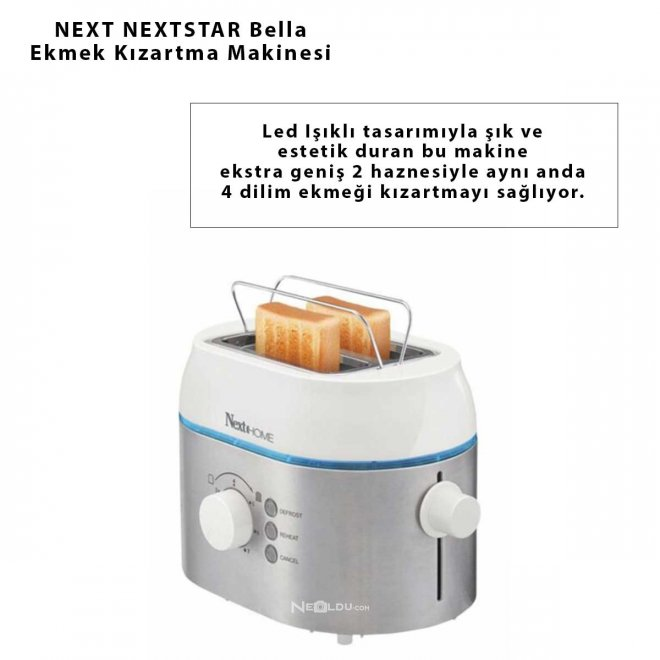 NEXT NEXTSTAR Bella Ekmek Kızartma Makinesi