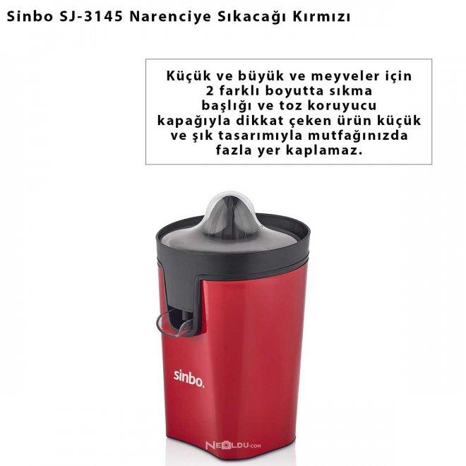 Sinbo SJ-3145 Narenciye Sıkacağı Kırmızı