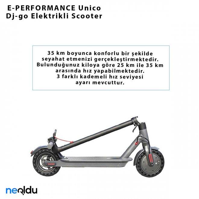 E-PERFORMANCE Unico Dj-go Elektrikli Scooter
