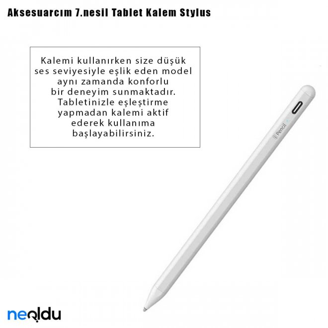 Aksesuarcım 7.nesil Tablet Kalem Stylus