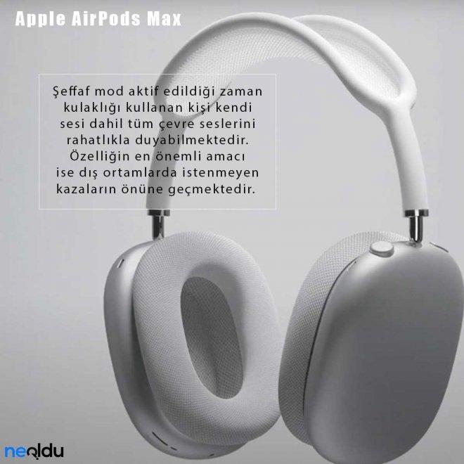 Apple AirPods Max Şeffaf Mod